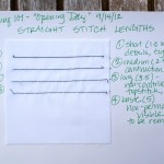 Straight stitch examples from Sewing 101