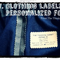 Craft Mash-Up: DIY Clothing Labels with Personalized Font