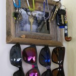 Rustic Key & Sunglasses Holder via The Thinking Closet