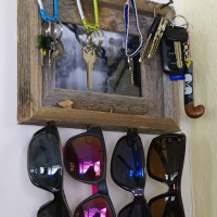 Rustic Key & Sunglasses Holder