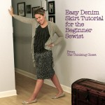 Easy Denim Skirt Tutorial for the Beginner Sewist via The Thinking Closet
