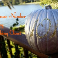 Glitter House Number Pumpkin: Fall-ify Florida Part II