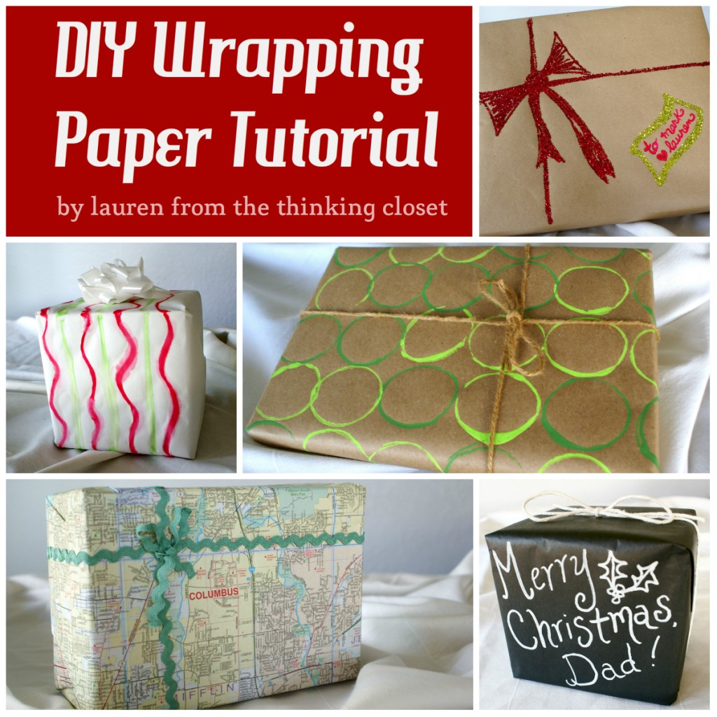 DIY Wrapping Paper Tutorial via The Thinking Closet. Stamped Wrapping Paper Tutorial with Silhouette Stamping Starter