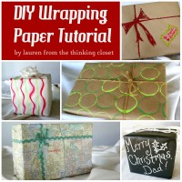 D.I.Y. Wrapping Paper Tutorial – Guest Posting at Sugar Bee Crafts