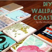 Drink Rings, Begone! – DIY Wallpaper Coasters