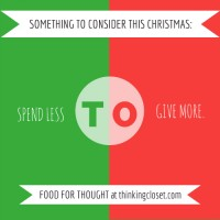 Spend Less to Give More: Food for Thought