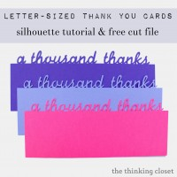 """A Thousand Thanks"" Card & Free Cut File"