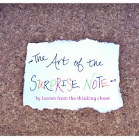 The Art of the Surprise Note: Guest Posting at Sweet Athena