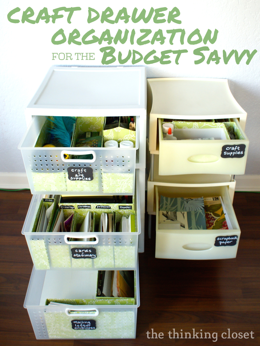 Craft Drawer Organization For The Budget Savvy The