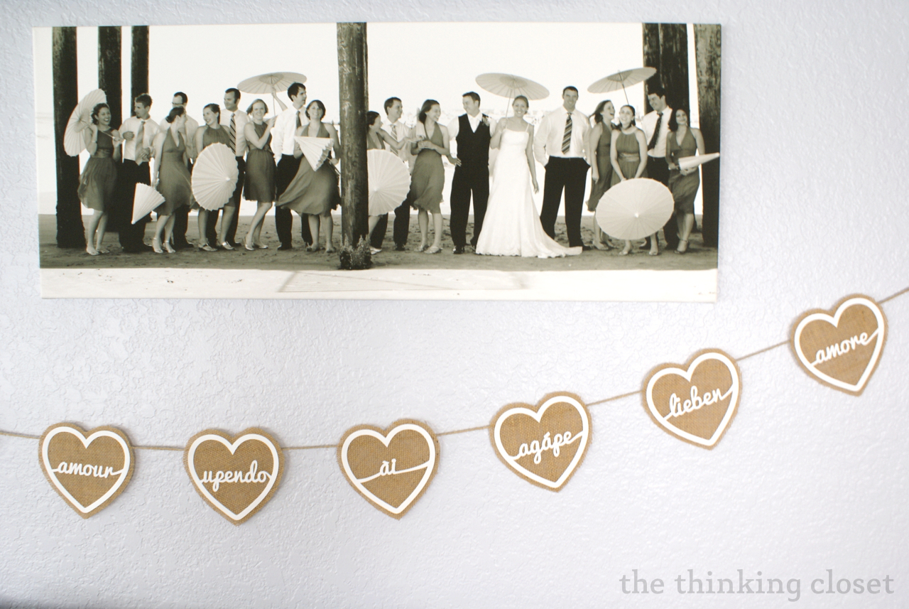 Burlap Love Banner   Free Cut File by The Thinking Closet. Burlap Love Banner   Free Cut File   the thinking closet