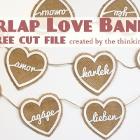 Burlap Love Banner & Free Cut File