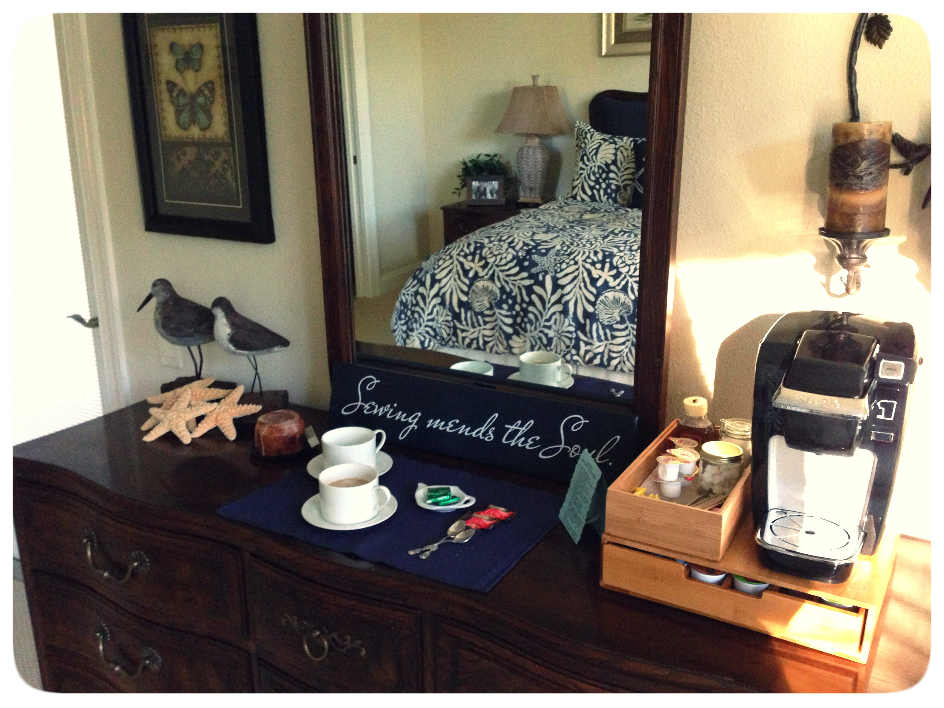 Guest Room Hot Drinks Station by my M.I.L. Rachael - The Thinking Closet