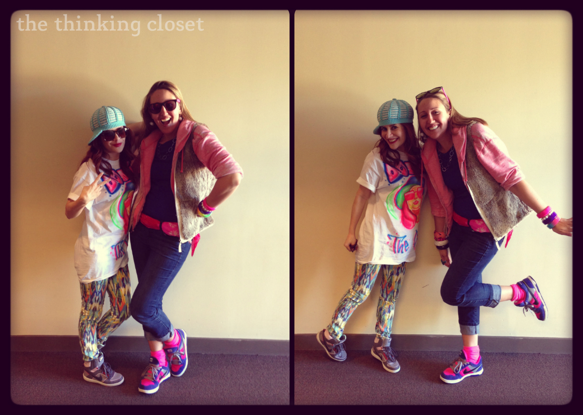 Lauren as Ruth with Donna the D.J. in B.C.L. - The Thinking Closet