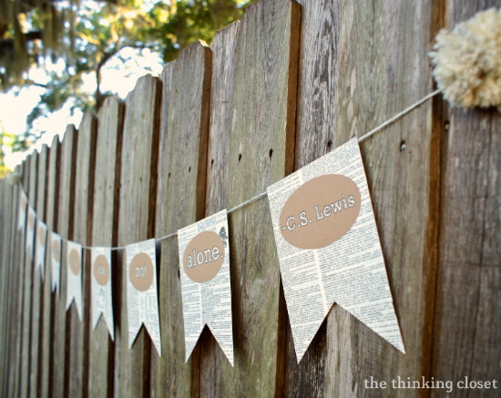 Book Page Banner Tutorial & Free Cut File | The Thinking Closet
