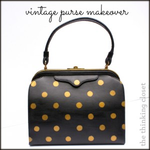 Vintage Purse Makeover | The Thinking Closet