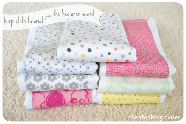 Burp Cloth Tutorial for the Beginner Sewist