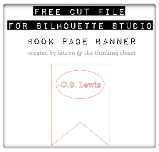 Book Page Banner - Free Cut File by The Thinking Closet