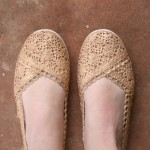 Gold Crochet Shoes by Allison from Dream a Little Bigger