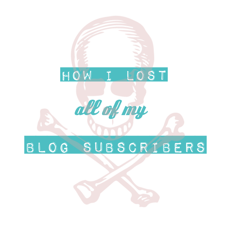 How I Lost All of My Blog Subscribers | A Tragedy (or is it a Comedy?) by Lauren of The Thinking Closet