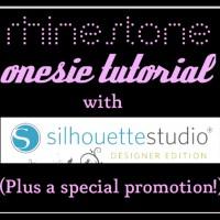 Rhinestone Onesie Tutorial & Silhouette Promotion | The Thinking Closet