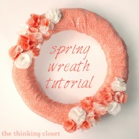 Fabric Spring Wreath Tutorial