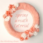 Fabric Spring Wreath Tutorial | The Thinking Closet