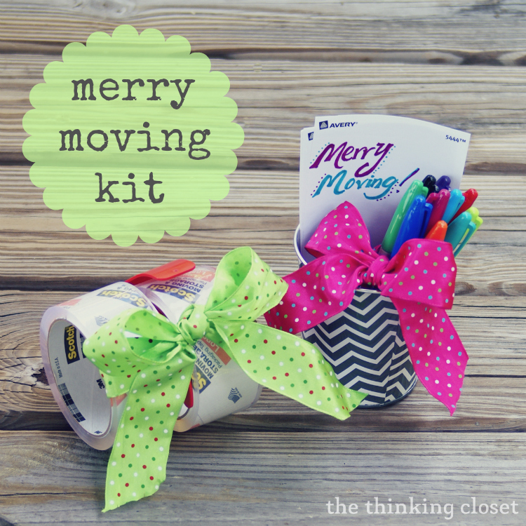 Practical gift ideas for moving housewarming the thinking closet merry moving kit other practical ideas for moving or housewarming gifts the thinking closet negle Images