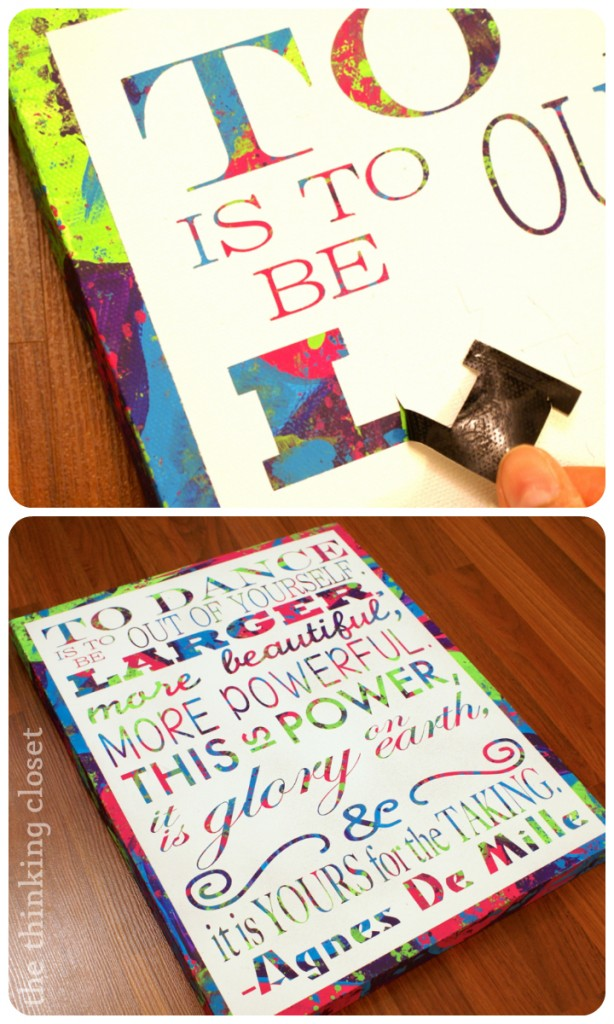 D.I.Y. Subway Art Canvas: Tutorial & Free Cut File | The Thinking Closet