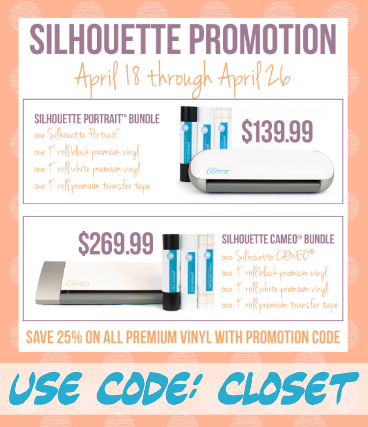 April Silhouette Promotion - code: CLOSET | The Thinking Closet