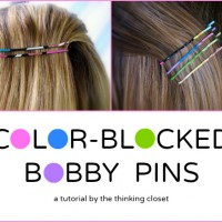 "Color-Blocked Bobby Pins at ""Or So She Says"""