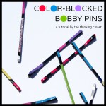Color Blocked Bobby Pin Tutorial | The Thinking Closet