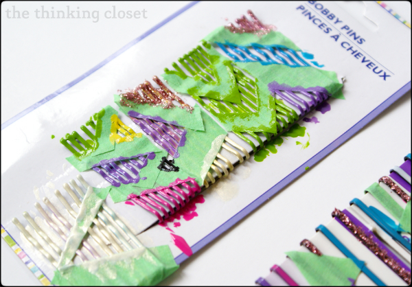Color Blocked Bobby Pin Tutorial   The Thinking Closet