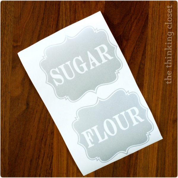 I Heart Labels: Flour & Sugar Edition | The Thinking Closet