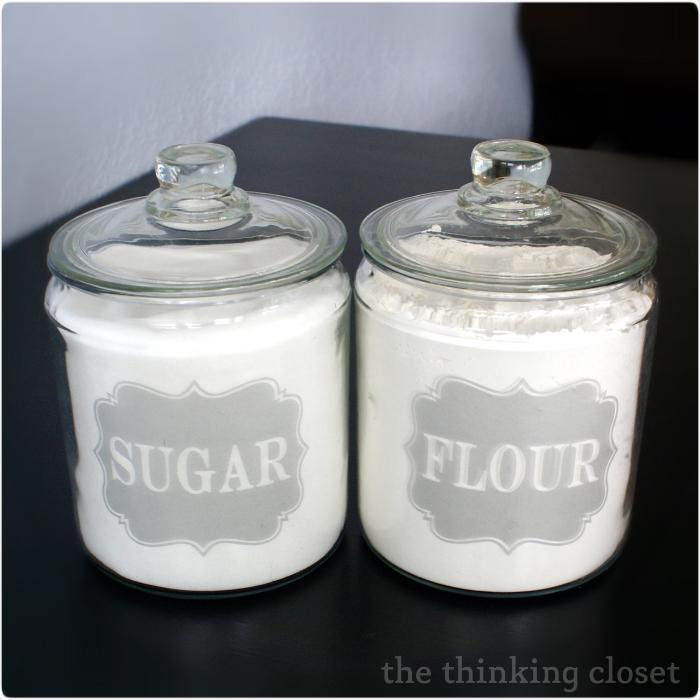 Sugar Amp Flour Jar Labels Free Silhouette Cut File The