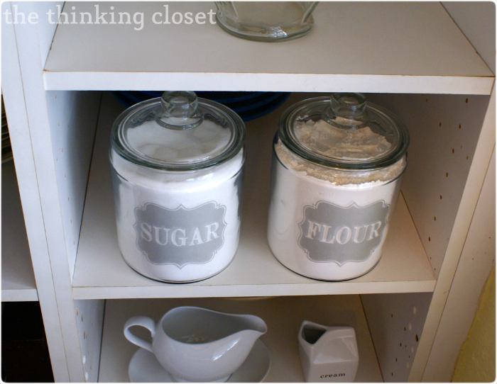 I Heart Labels: Sugar & Flour Jar Edition | The Thinking Closet