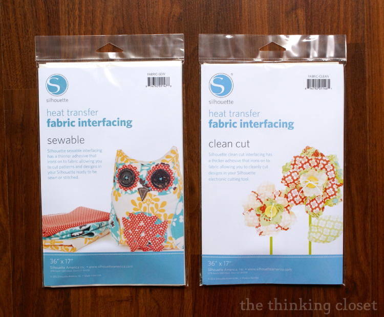 Silhouette Giveaway & Special Promotion on Fabric Interfacing | The Thinking Closet