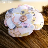 Layered Fabric Flower Embellishment