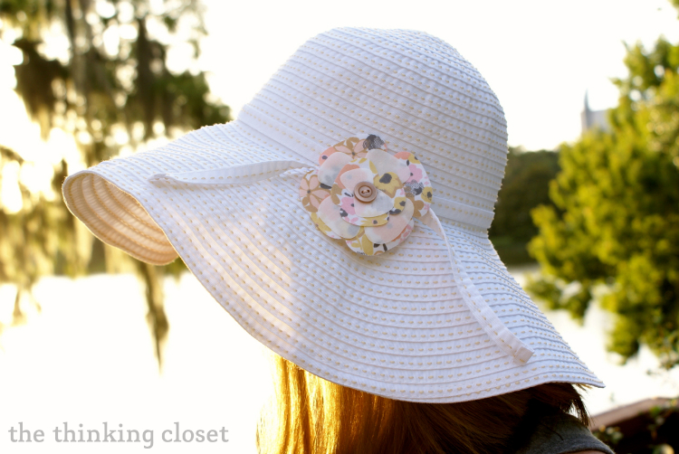 Layered Fabric Flower Embellishment | The Thinking Closet