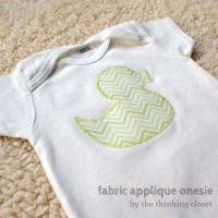 Fabric Applique Onesie Tutorial & Free Cut File | The Thinking Closet