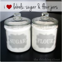 I Heart Labels: Sugar & Flour Jar Edition