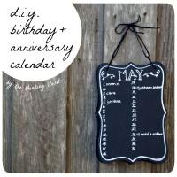 DIY Birthday & Anniversary Calendar