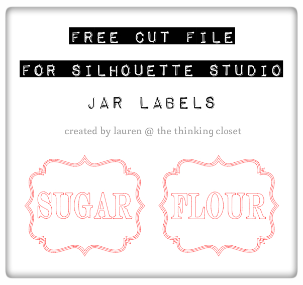 Free Jar Labels Cut File for use with Silhouette Studio | The Thinking Closet