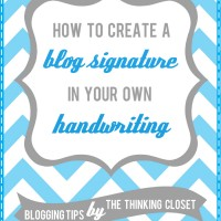 How to Create a Blog Signature in Your Own Handwriting