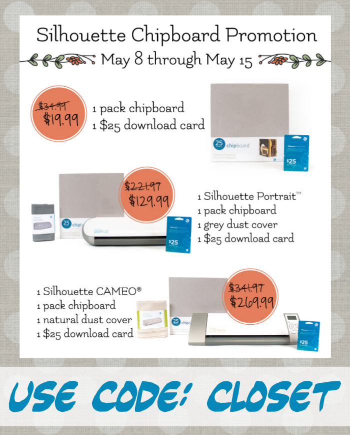May Silhouette Promotion & Giveaway at The Thinking Closet