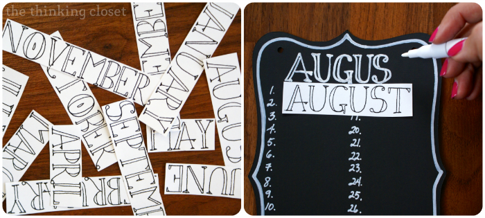 DIY Birthday & Anniversary Calendar | The Thinking Closet