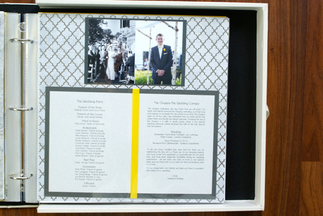 A Non-Scrapbooker's Guide to Creating a Wedding Scrapbook | The Thinking Closet