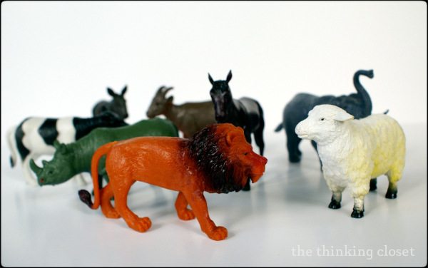 Spray PaiTransforming Plastic Toy Animals into Gold Place-Card Holders | The Thinking Closetnted Animal Place-Card Holders | The Thinking Closet