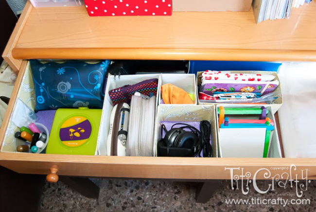 Craft Drawer Organization | Reader Showcase at The Thinking Closet