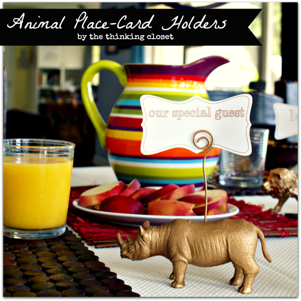 Animal Place-Card Tutorial via The Thinking Closet