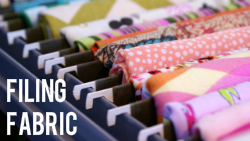 Filing Fabric & Fabric Organization Round-Up via The Thinking Closet
